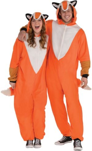 Adult Zipster Fox One Piece Costume Plus Size