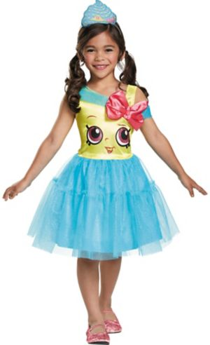 Little Girls Cupcake Queen Costume Shopkins Party City