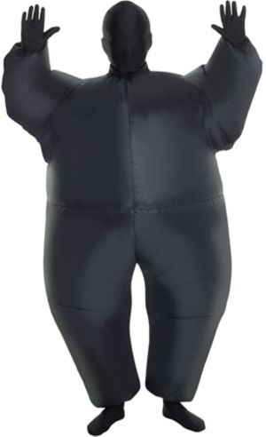Boys Inflatable Black Morphsuit