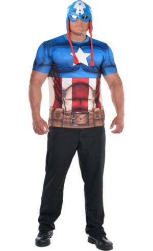 Adult Captain America Costume Plus Size