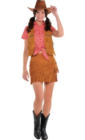 Adult Gingham Cowgirl Costume