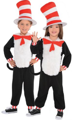 Toddler Cat in the Hat One Piece Costume - Dr. Seuss