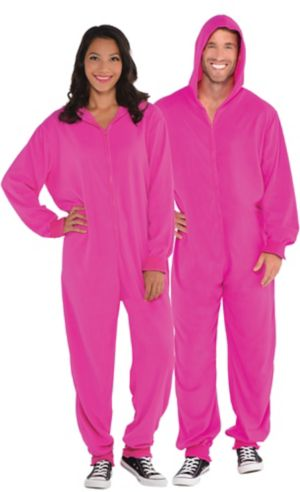 Adult Zipster Pink One Piece Costume