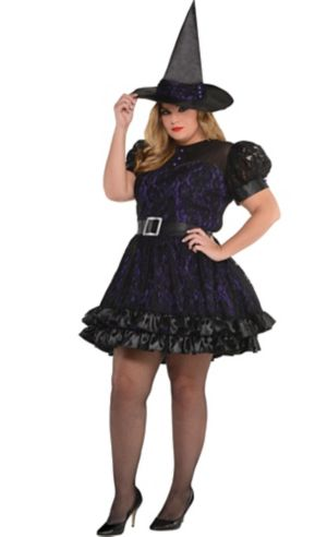 Adult Black Magic Witch Costume Plus Size