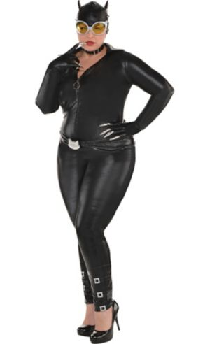 Adult Catwoman Costume Plus Size - DC Comics New 52