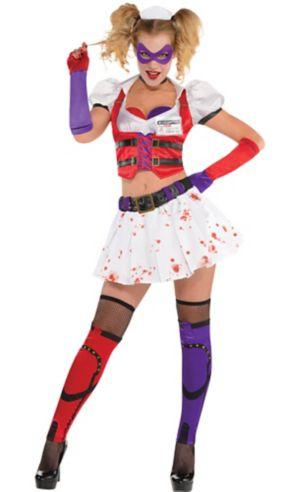 Adult Harley Quinn Costume - Arkham Asylum
