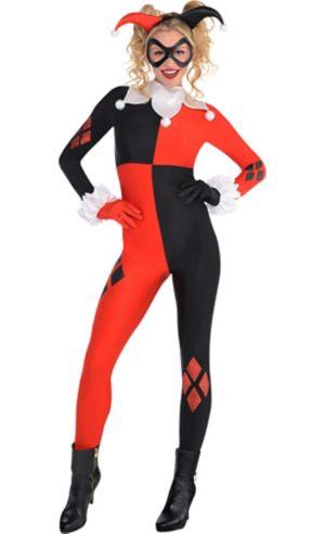 Adult Harley Quinn Jumpsuit Costume - Batman