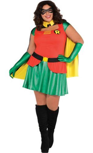 Adult Robin Dress Costume Plus Size Batman Party City