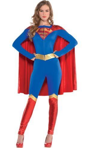 Adult Supergirl Jumpsuit Costume - Superman