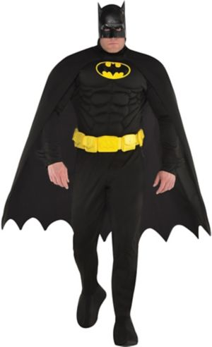 Adult Batman Muscle Costume Plus Size