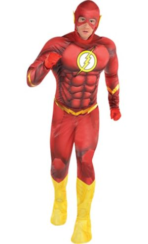 Adult The Flash Muscle Costume - DC Comics New 52