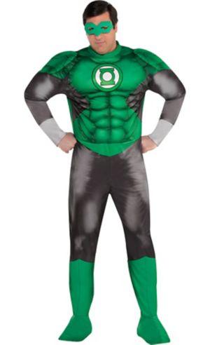 Adult Green Lantern Muscle Costume Plus Size - DC Comics New 52