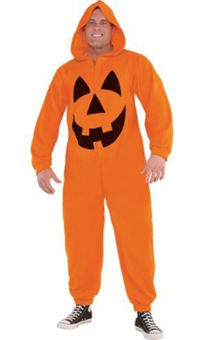 Adult Zipster Jack-o'-Lantern One Piece Costume Plus Size