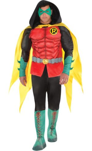 Adult Robin Muscle Costume Plus Size - DC Comics New 52