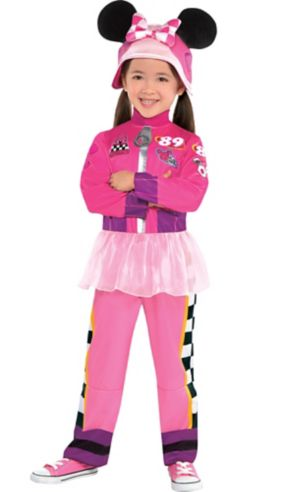Toddler Girls Minnie Mouse Costume - Mickey and the Roadster Racers