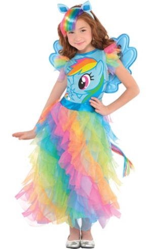 Girls Rainbow Dash Dress Costume - My Little Pony