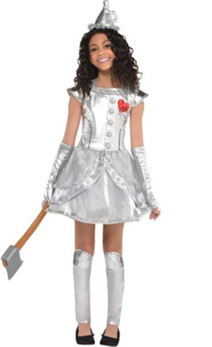 Girls Tin Man Costume - Wizard of Oz