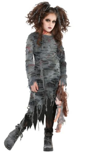 Girls Undead Walker Zombie Costume