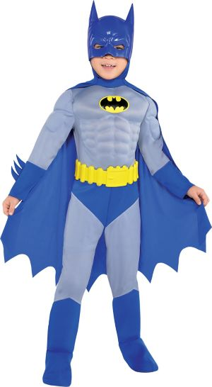 Toddler Boys Classic Batman Muscle Costume - The Brave and the Bold