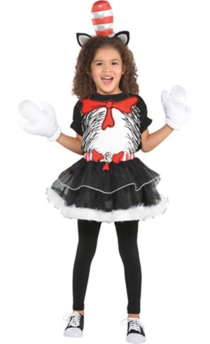Girls Cat in the Hat Costume - Dr. Seuss