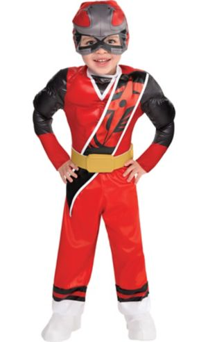Toddler Boys Red Ranger Muscle Costume - Power Rangers Ninja Steel