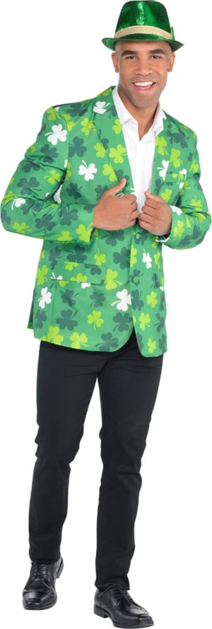 Adult Shamrock St. Patrick's Day Jacket Costume
