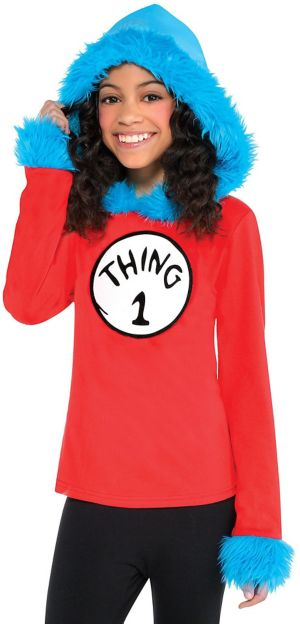 Child Thing 1 & Thing 2 Hooded Long-Sleeve Shirt - Dr. Seuss