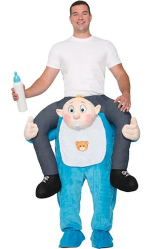 Adult Blushing Baby Ride-On Costume