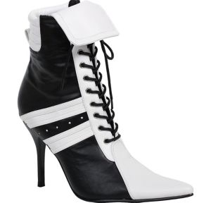 Adult Black & White High Heel Athletic Boots