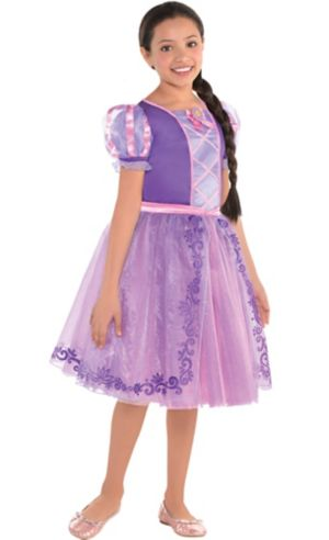 Girls Rapunzel Dress Costume - Tangled