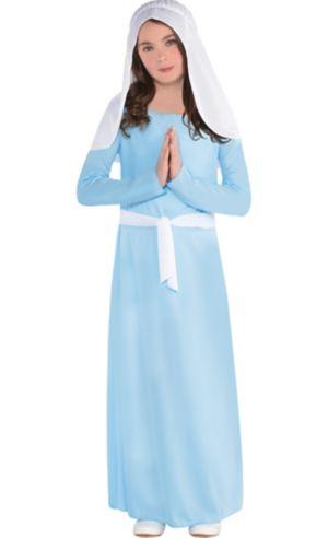 Girls Light Blue Virgin Mary Costume