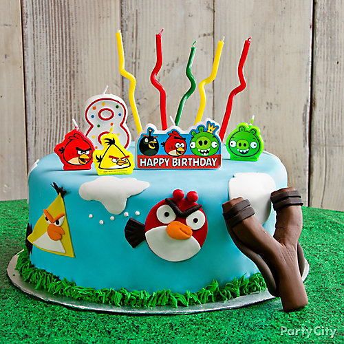Angry Birds Fondant Cake How To