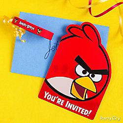 Angry Birds Invites with Favor Idea