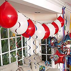 Avengers Balloon Garland Idea