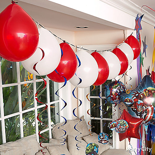Avengers Balloon Garland Idea