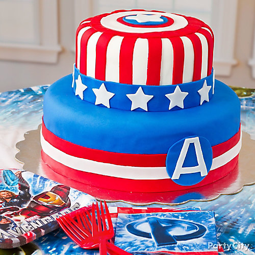 Captain America Fondant Cake How To