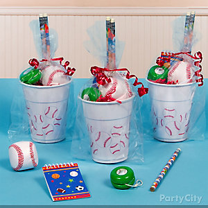 Baseball Favor Cup Idea
