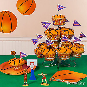 Basketball Cupcake Tower Idea