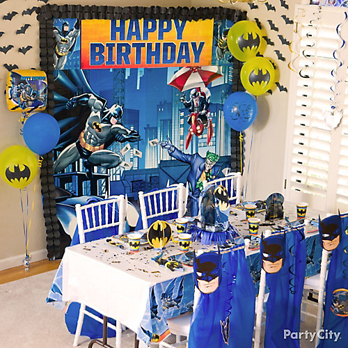 Batman Party Table Idea City