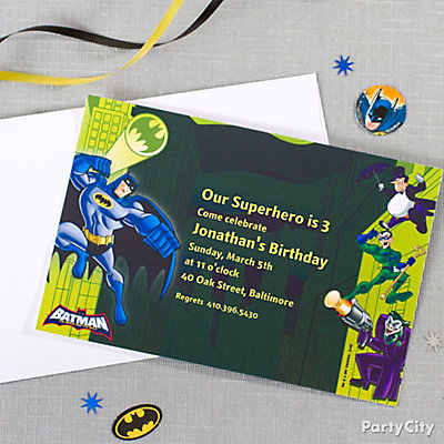 Batman Custom Invite Idea