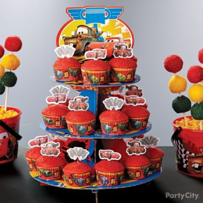 Cars Cupcake Tower How To