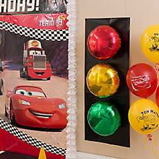 Cars Stoplight Balloons DIY