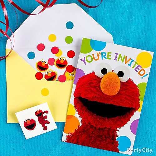 Elmo Invite with Surprise Idea