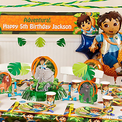 Go Diego, Go! Party Table Idea