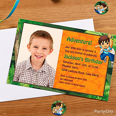 Go Diego, Go! Custom Invite Idea