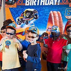 Hot Wheels Photo Booth Idea
