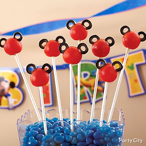 Mickey Mouse Tomato Pops How To