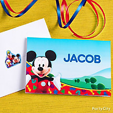 Mickey Mouse Custom Thank You Note Idea