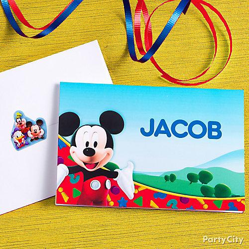 Mickey Mouse Custom Thank You Note Idea