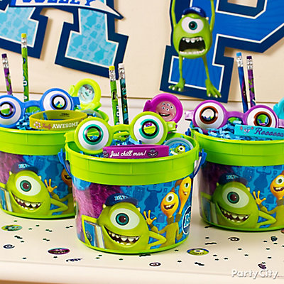 Monsters University Favor Bucket Idea